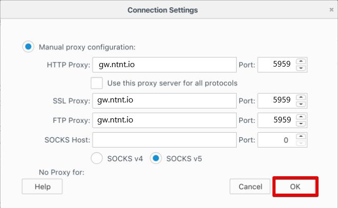 Configure proxy setting on Parsehub - netnut residential proxy network 7